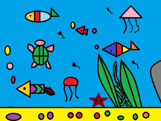 《海底世界》二六班电脑绘画作品